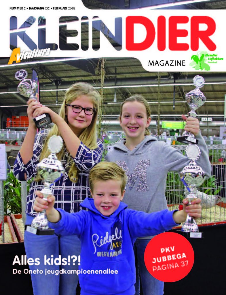 Cover Kleindier Magazine february 2018